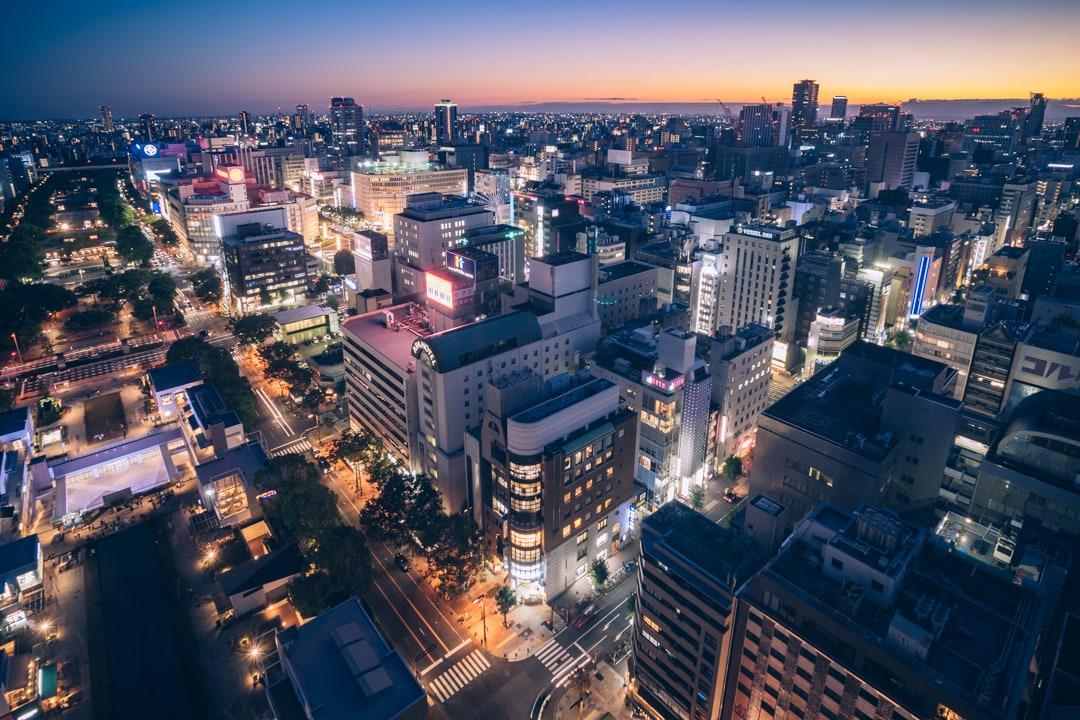 名古屋テレビ塔南西方向を撮影した写真