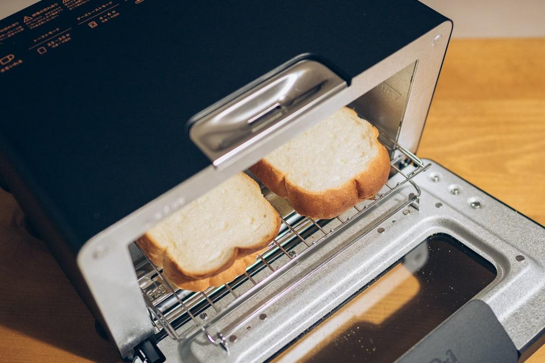 バルミューダのトースタは食パンを2枚まで焼ける