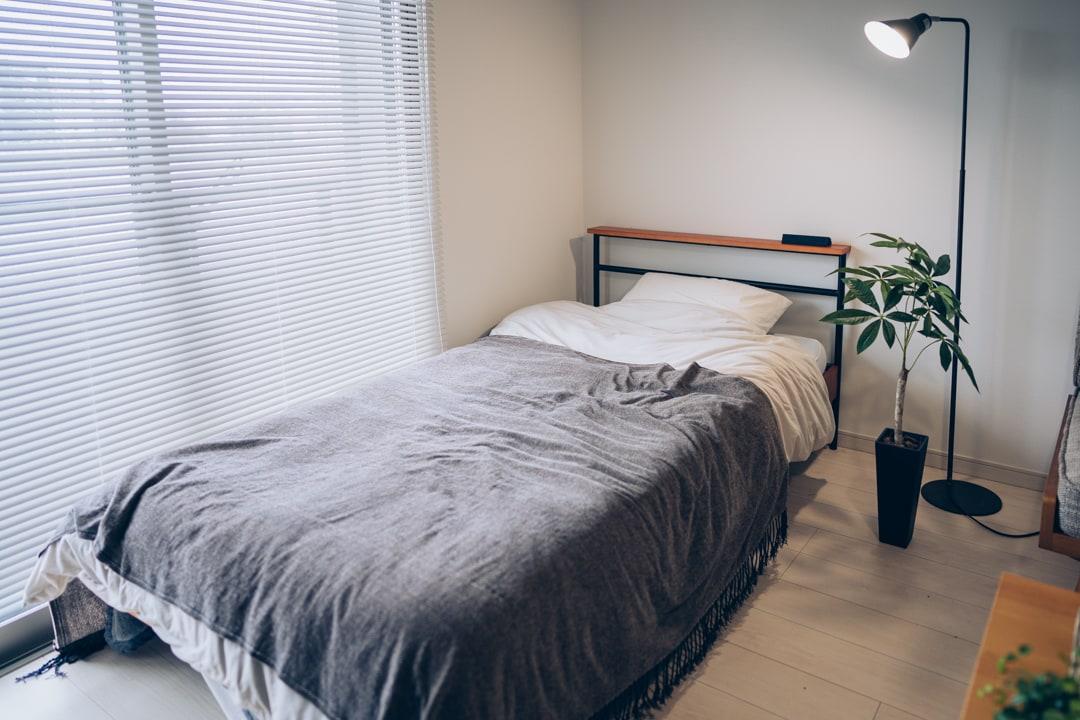一人暮らし男子のベッドスペース