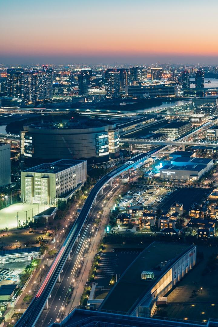 三井ガーデンホテル豊洲ベイサイドクロスから撮影した有明エリアの夜景