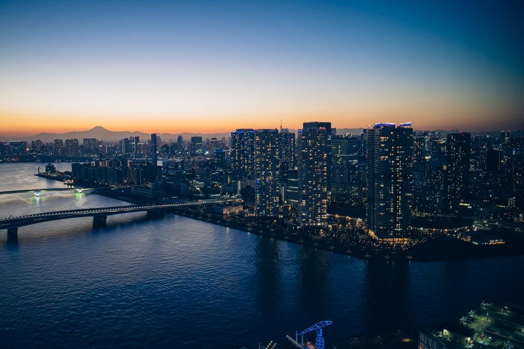 三井ガーデンホテル豊洲ベイサイドクロスから撮影した夕景