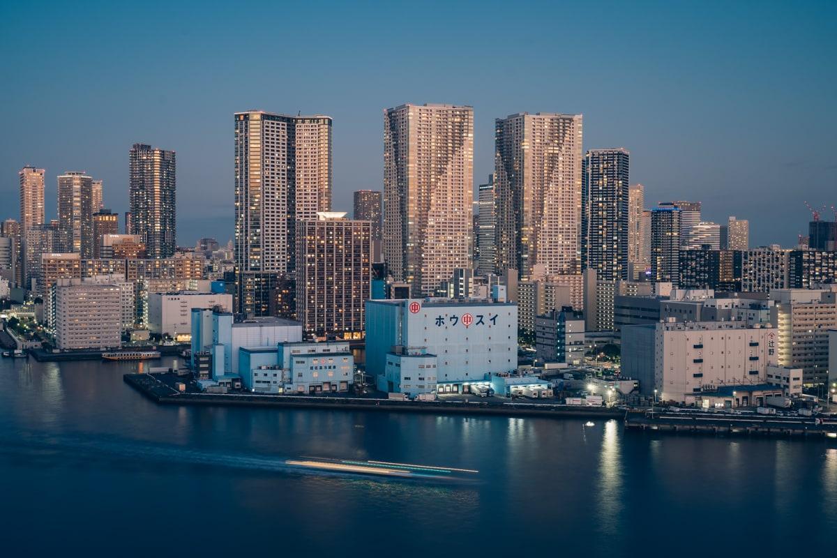 インターコンチネンタル東京ベイから眺める夕景