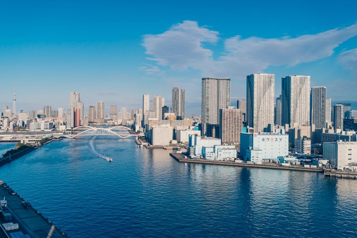 インターコンチネンタル東京ベイの客室からの眺め