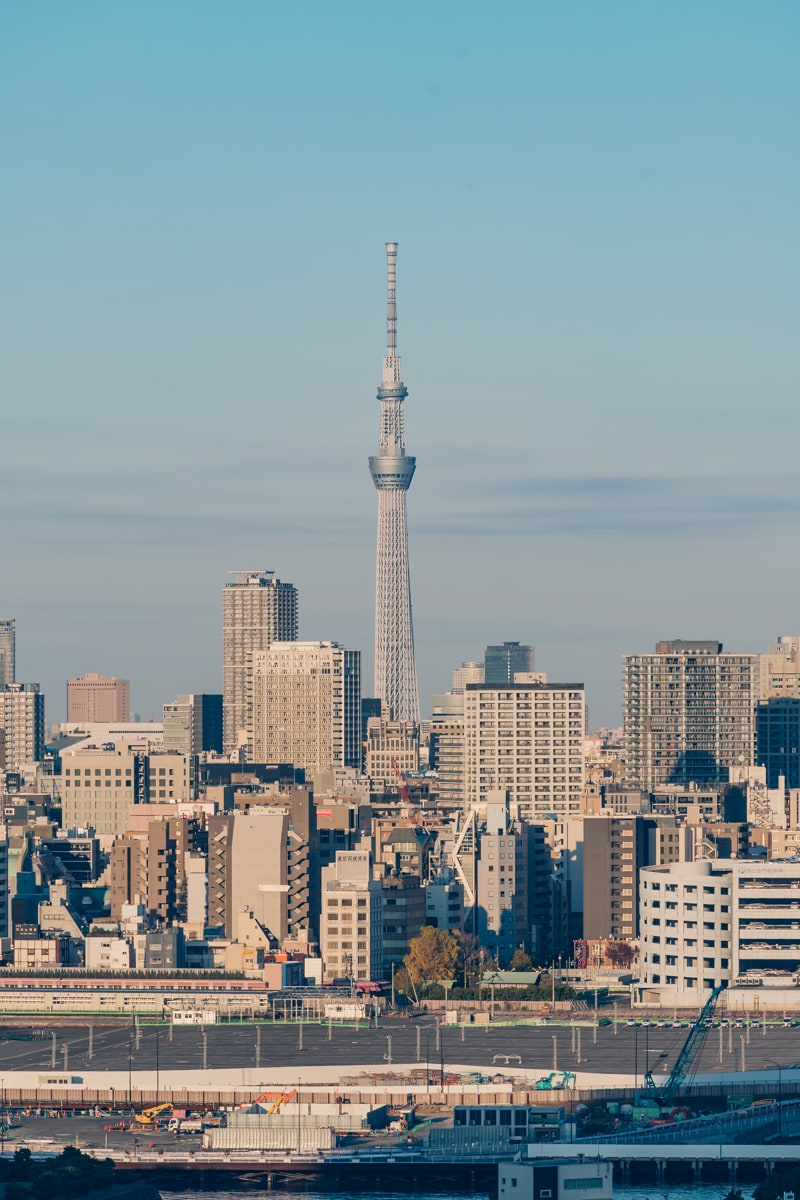 インターコンチネンタル東京ベイの客室から眺めるリバービュー