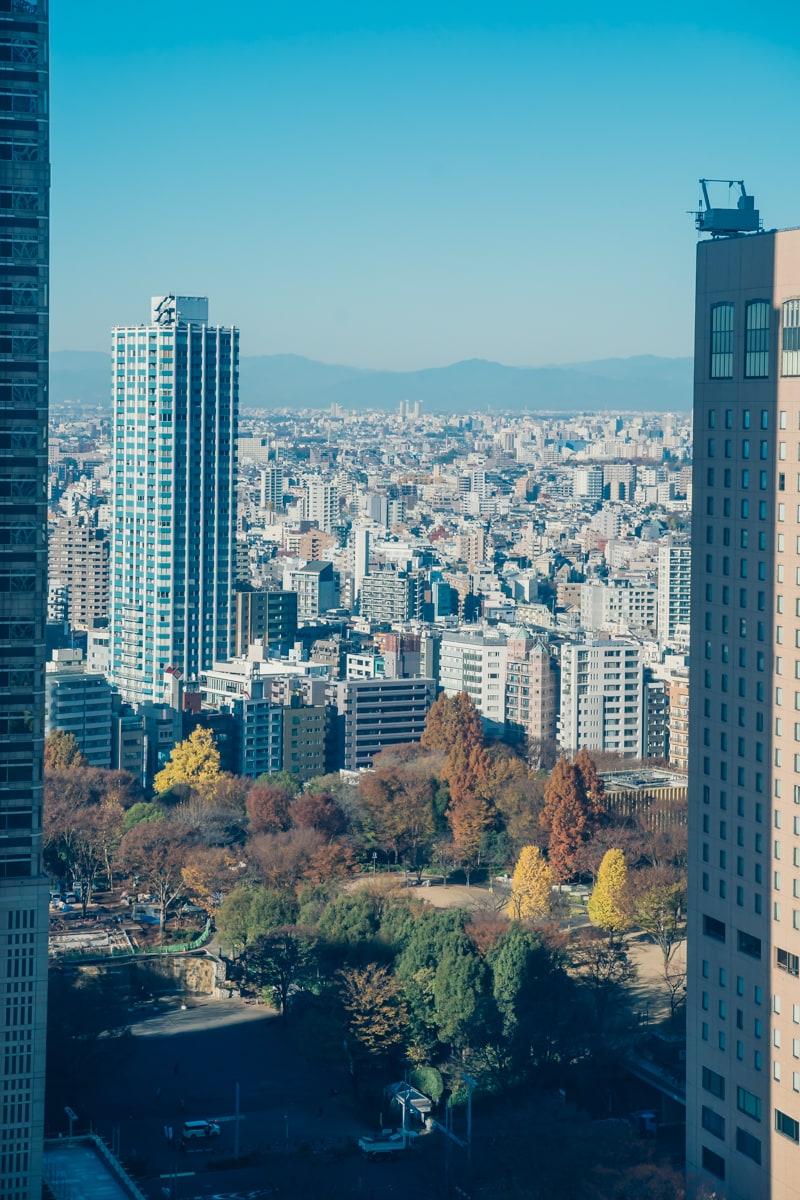 京王プラザホテルの客室からの眺望
