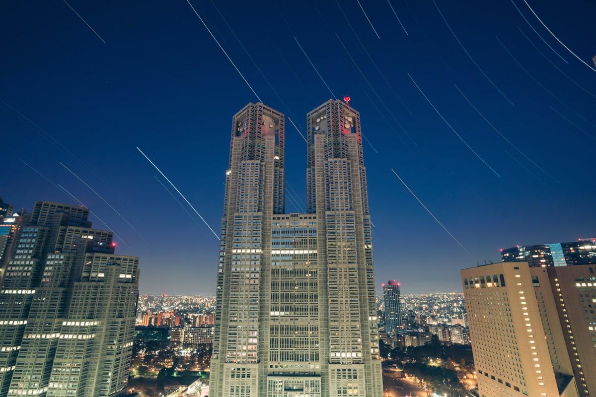 都庁の星景写真