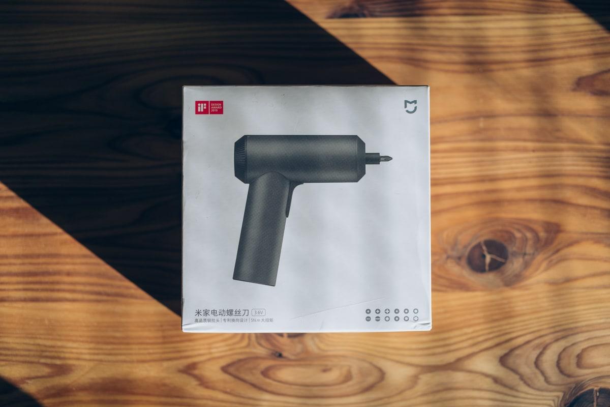 Xiaomi(mijia)コードレス電動ドライバーの商品パッケージ