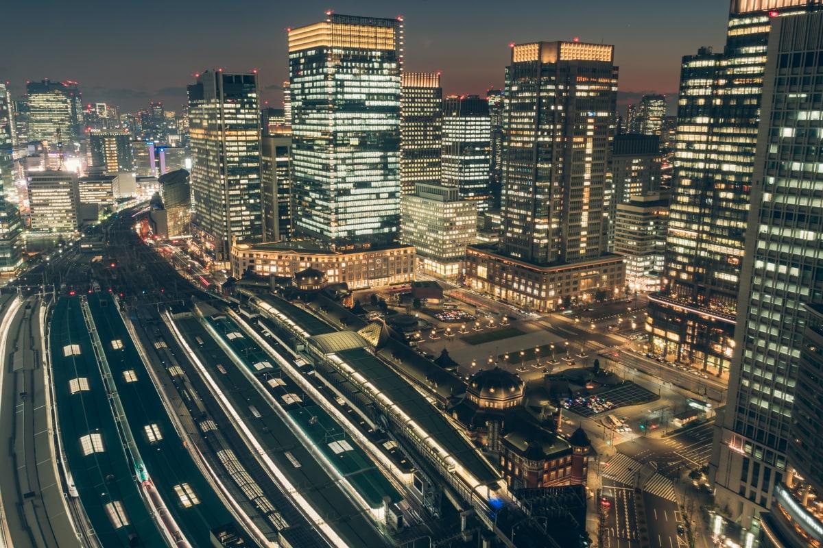 メトロポリタン丸の内から撮影した東京駅