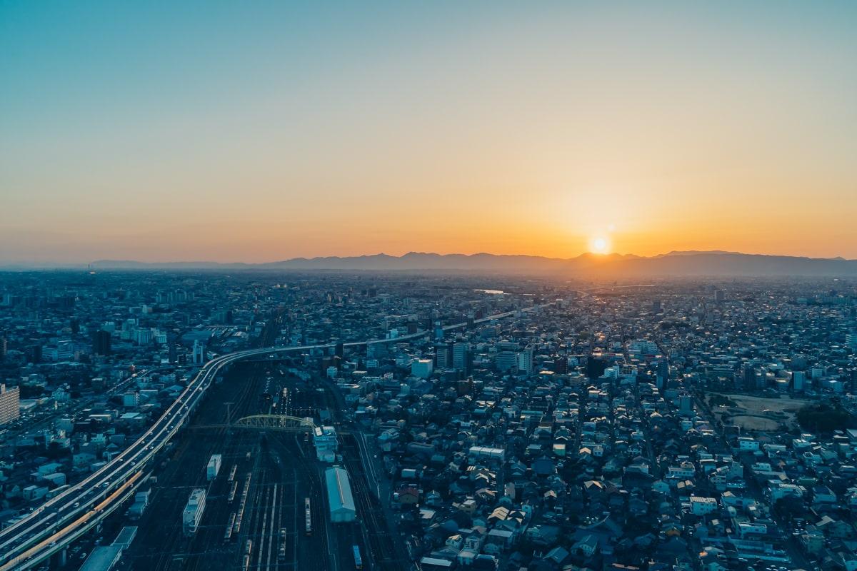 名古屋プリンスホテルから撮影した夕日