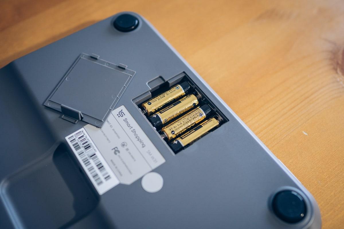スマートマットライトと単三電池