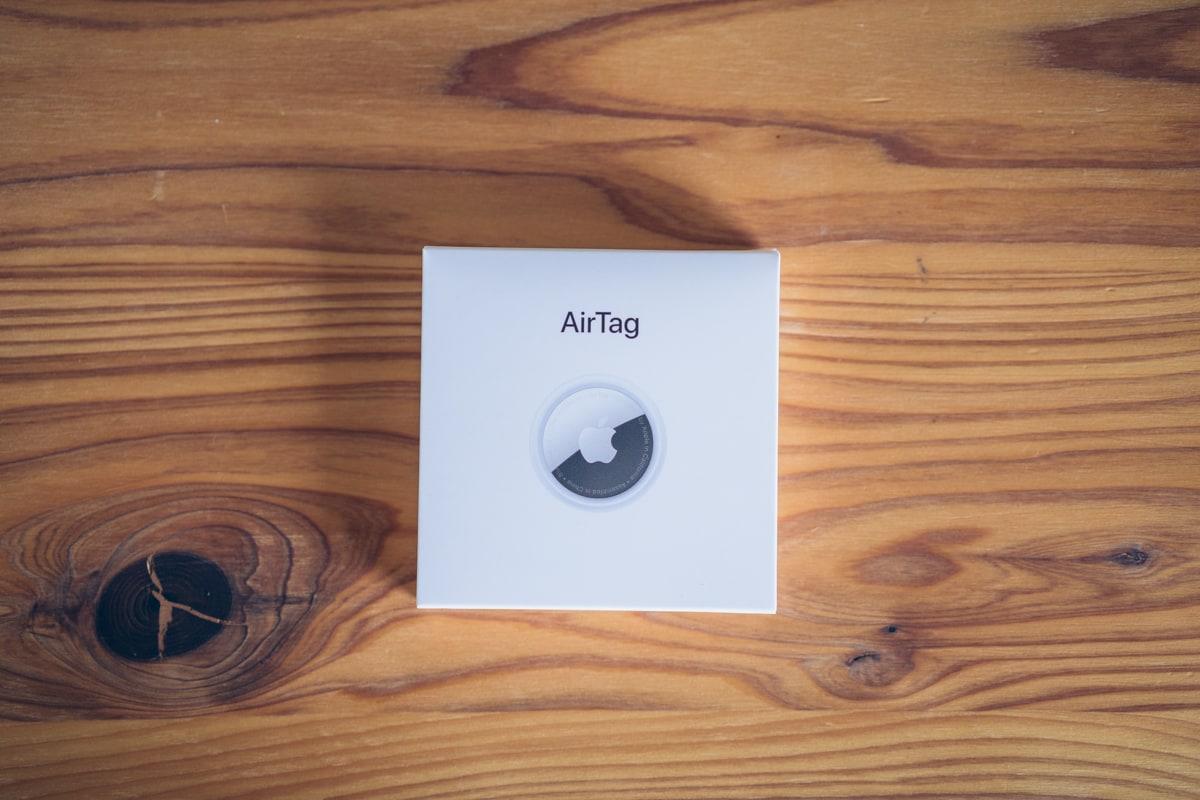 Apple AirTagのパッケージ